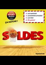 Promos et remises Sport 2000 : Les soldes ! Ca matche !