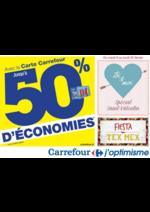 Prospectus Carrefour : Avec la carte Carrefour, jusqu'à 50% d'économies