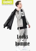 Catalogues et collections Gemo : Les looks homme du moment