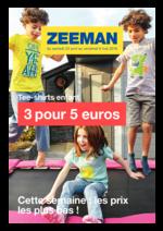 Prospectus Zeeman : Tee-shirts enfant : 3 pour 5€
