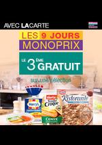 Bons Plans Monoprix : Les 9 jours Monoprix : le 2ème gratuit