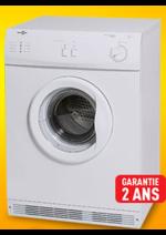Promos et remises  : 1er prix : le sèche-linge 6kg évacuation à 144,98€