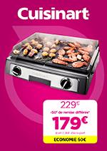 Promos et remises  : Découvrez l'offre Plancha Cuisinart !