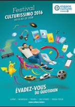 Prospectus Espace culturel E.Leclerc : Festival culturissimo 2016
