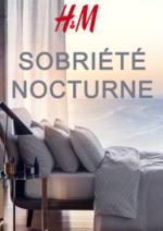 Catalogues et collections H&M : Lookbook Home Sobriété noctune