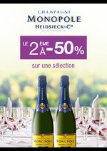 Promos et remises  : Champagne Monopole : le 2ème à -50%