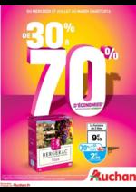 Prospectus Auchan : De 30% à 70% d'économies