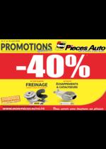 Promos et remises Pièces Auto : Ce mois-ci, profitez de 40% de remise !!!