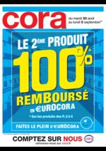 Prospectus Cora : Le 2ème produit 100% remboursé en €urocora