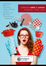 Promos et remises  : Collection table & cuisine automne - hiver 2016