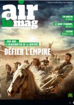 Journaux et magazines Mc Donald's : Air le Mag du mois de Septembre 2016
