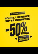 Bons Plans La Poste : -50% à partir du 2ème forfait