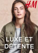 Catalogues et collections H&M : Lookbook femme Luxe et détente