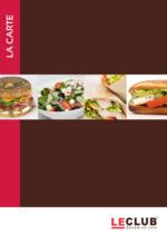 Menus Le Club Sandwich Café : Découvrez la carte Midi