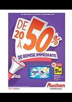 Prospectus Auchan : De 20% à 50% de remise immédiate