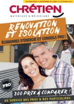 Promos et remises  : Rénovation et Isolation