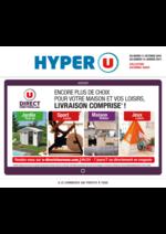 Prospectus Hyper U : Encore plus de choix pour votre maison et loisirs, livraison comprise !