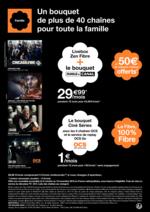 Prospectus Orange : Un bouquet de plus de 40 chaînes pour toute la famille
