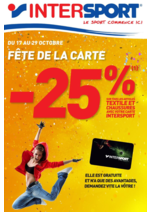 Prospectus Intersport : Fête de la carte -25%