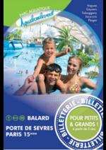 Promos et remises Carrefour Spectacles : -50% sur votre billet pour Aquaboulevard