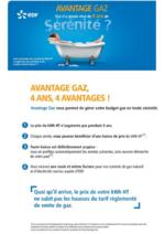 Jeux concours EDF : Avantage Gaz : gagnez 4 ans de sérénité!