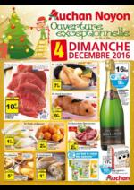 Prospectus Auchan : Ouverture exceptionnelle dimanche 4 décembre 2016