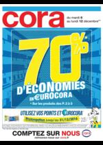 Prospectus Cora : 70% d'économies en €urocora