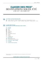 Promos et remises  : Cahier des prix - destinations soleil été