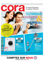Prospectus Cora : Électroménager, rangement & multimédia
