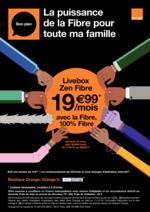 Prospectus Orange : Livebox Zen Fibre dés 19,99€ par mois