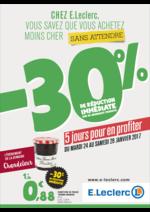 Prospectus E.Leclerc : -30% de réduction immédiate sur de nombreux produits maintenant