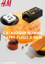 Promos et remises  : Catalogue homme Happy plugs x H&M