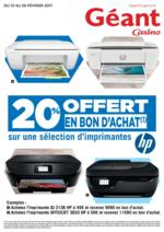Promos et remises  : 20% offert en bon d'achat sur une sélection d'imprimantes
