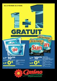 Prospectus Supermarchés Casino CHAVILLE : 1+1 gratuit