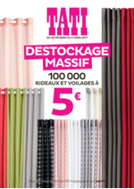Prospectus Tati : Destockage Massif