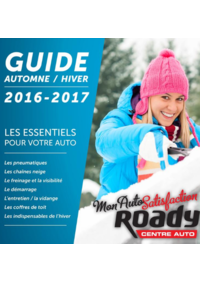 Guides et conseils Roady Redon CC Cap Nord Route de Rennes : Guide automne hiver 2016-2017