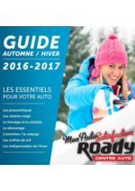 Guides et conseils Roady : Guide automne hiver 2016-2017