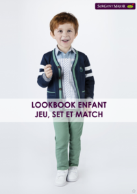 Catalogues et collections Sergent Major PARIS 82 PASSAGE DU HAVRE : Lookbook enfant Jeu, Set et Match