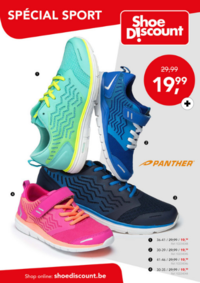 Prospectus Shoe Discount BRUSSEL Bascule : Spécial sport