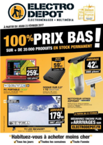 Prospectus ELECTRO DEPOT : 100% prix bas !