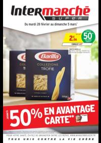 Prospectus Intermarché Super Nanterre : Jusqu'à 50% en avantage carte