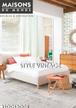 Catalogues et collections Maisons du Monde : Style Vintage