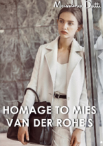 Catalogues et collections Massimo Dutti : Lookbook homage to Mies van der Rohe's