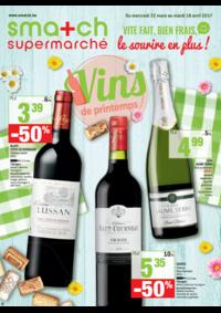 Prospectus Smatch Merchtem : Vins de printemps