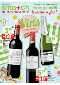 Prospectus Smatch Schaerbeek : Vins de printemps