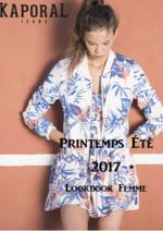 Promos et remises  : Lookbook femme éte 2017