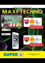 Prospectus Super U : Maxi techno