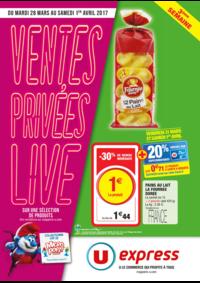 Prospectus U Express PARIS - R. MONTREUIL : Ventes privées live 3ème semaine