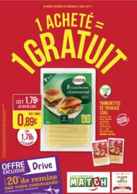 Prospectus Supermarchés Match Saint-Avold : 1 acheté = 1 gratuit