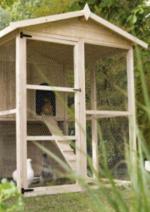 Guides et conseils Leroy Merlin : Réaliser un poulailler avec un toit végétal